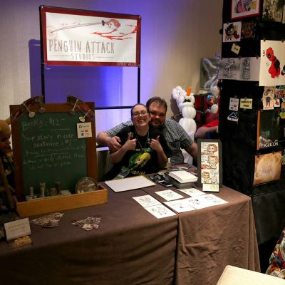 Two Makers at the maker market