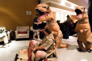 T-rex cosplay